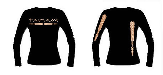 Long Sleeve Tattoo Shirt:  The design is a replica of the tattoo on my hand. It also comes in white and short sleeves.