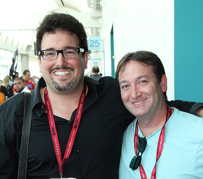 FREE ENTERPRISE writer/producer Mark A. Altman and pilot director David Rogers after the film's Comic-Con 15th anniversary panel.