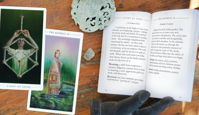 The Fountain Tarot Booklet (rendering)