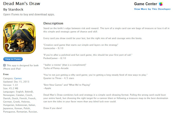 Dead Man's Draw - The project ended but you can still buy it