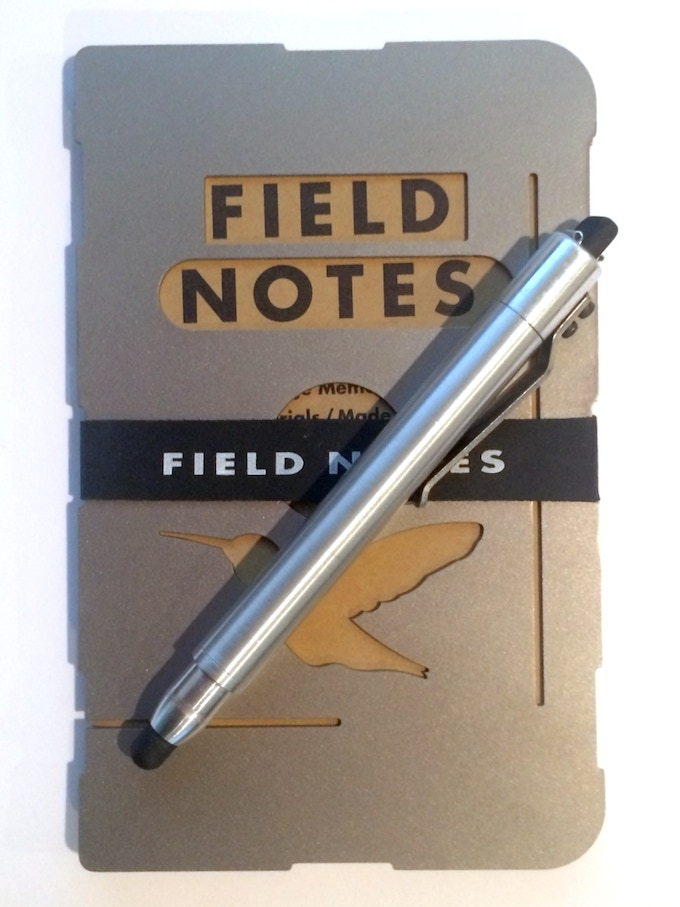 Bullet Pencil - ST on Field Notes with Titanium Cover www.thefieldassistant.com