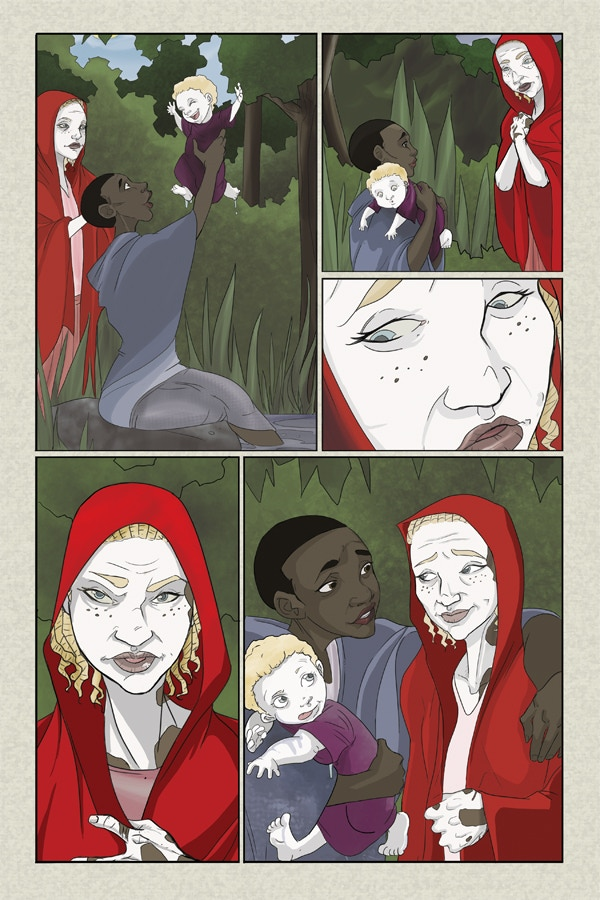 Page 3 of Flesh of White 3 - Line & Color Art by Amanda Rachels!