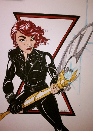 An Amanda Rachels Black Widow Commission from a previous campaign