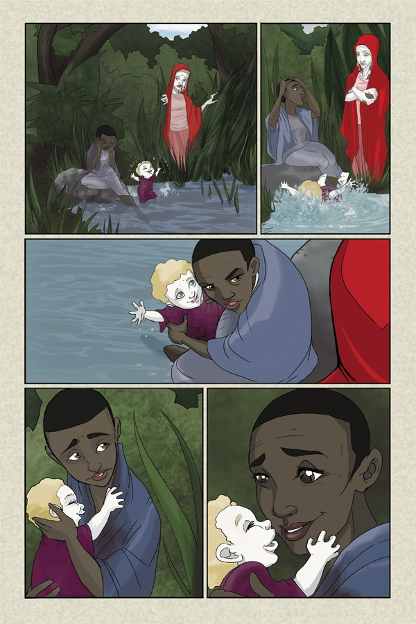 Page 2 of Flesh of White 3 - Line & Color Art by Amanda Rachels!