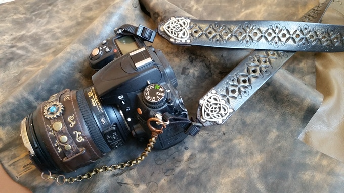 Fully customized Lens Cap, Lens Cuff and Camera Strap!!