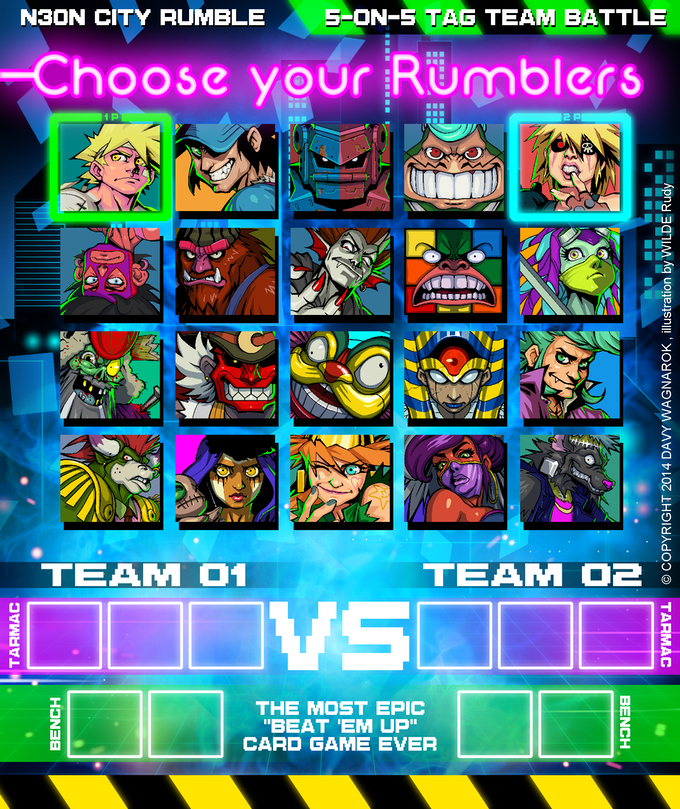 Mix and match Fighters to discover your winning team!