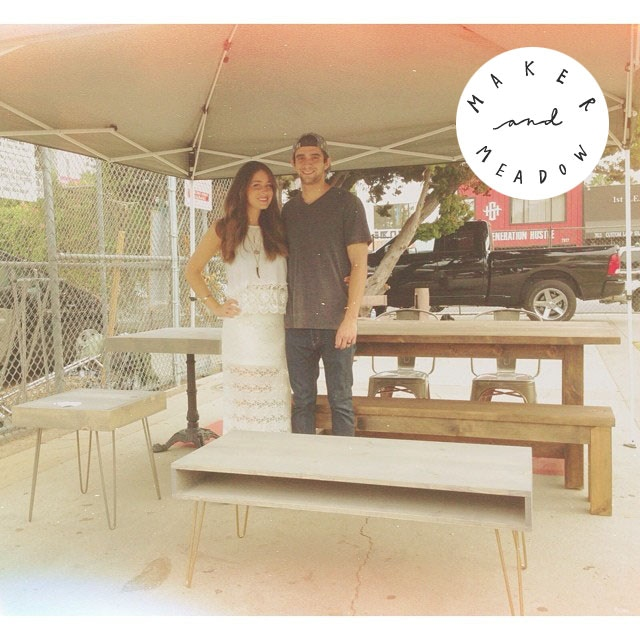 Ashley and Tyler Seeger, owners of Maker and Meadow