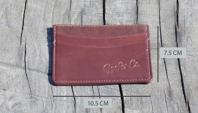 The Classic -  Our CLASSIC slim wallet in brown - made from finest hide leather lightly oiled with a natural grain - giving a traditional two tone robust finish. They are lined with beige suede for a truly luxurious feel.