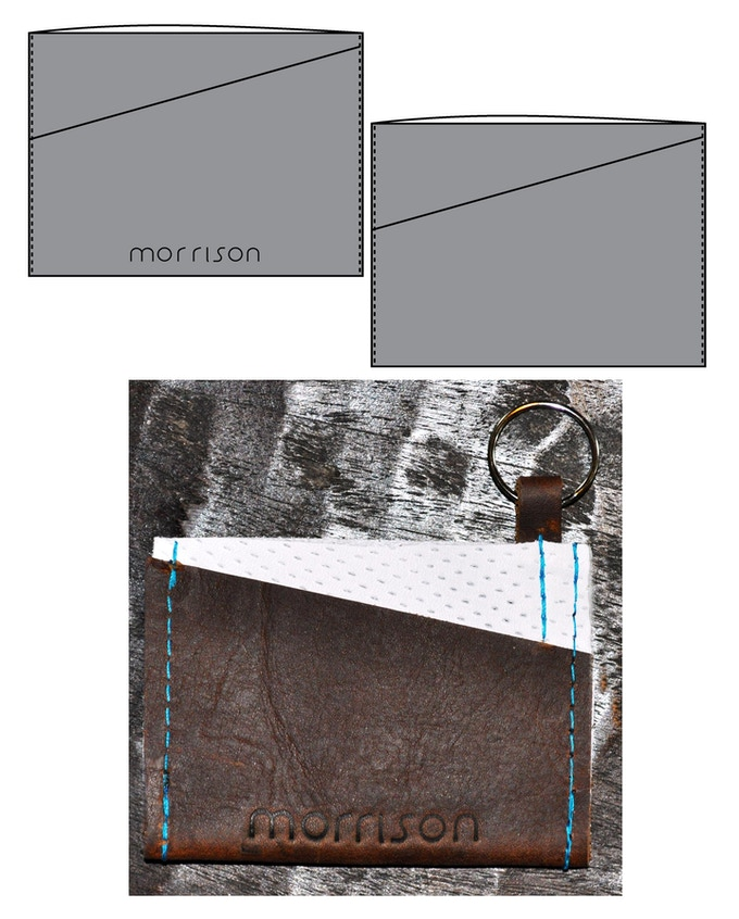 Carmen cardholder - The way to store your most important cards in style! (Custom Distressed & Perforated leather w/Teal combo shown)