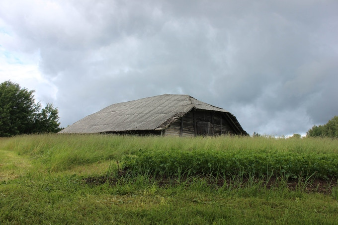 Exterior view of barn 2 b dis-mantled