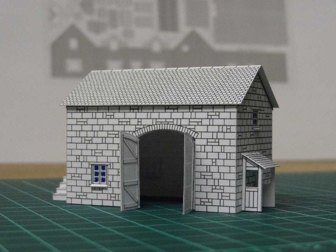 Kit 3 : a barn - right view