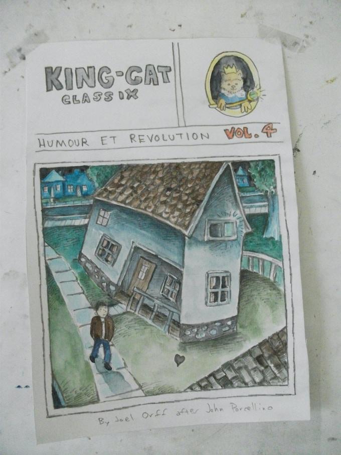 Joel Orff's 'cover' of King-Cat Classix #4