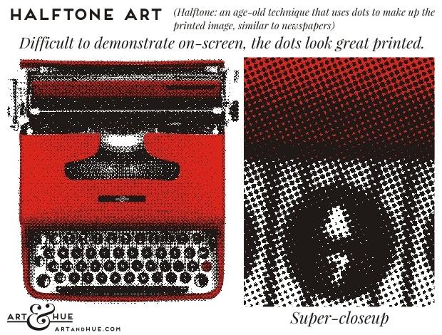 Halfone Art | Art & Hue | © ArtAndHue.com