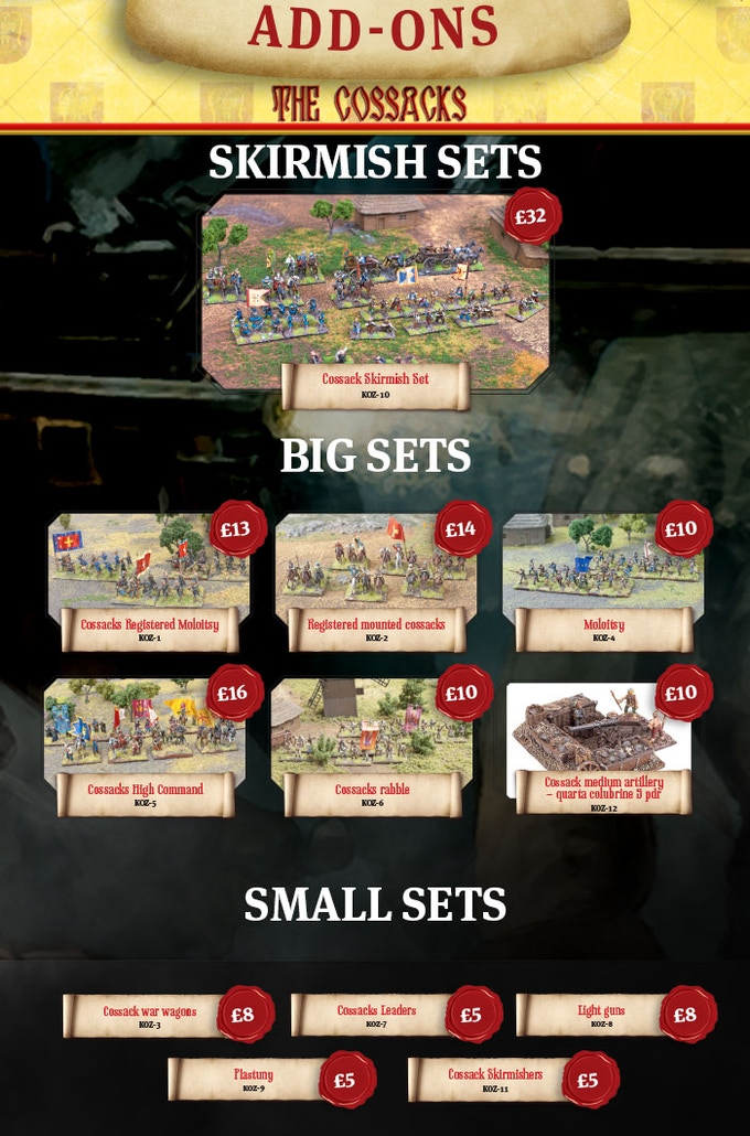 Check the details of Cossacks' sets in online store