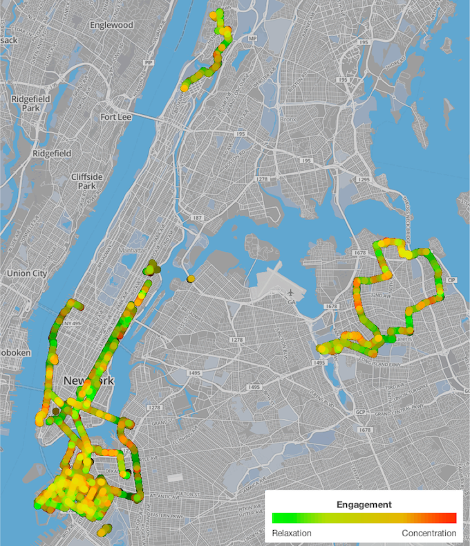 All NYC MindRides as of mid-July. We will make a continuous map of all Manhattan, extend to the other boroughs as well, and publish the results in a map and guide. Click through to see our most up-to-date interactive map.