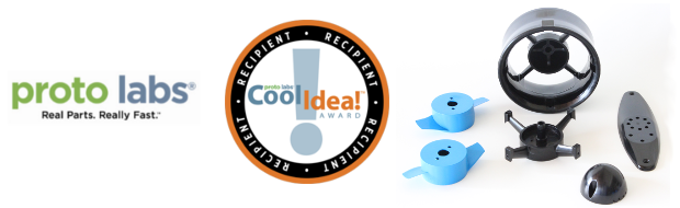 The T100 Thruster won the Proto Labs Cool Idea! Award in April.