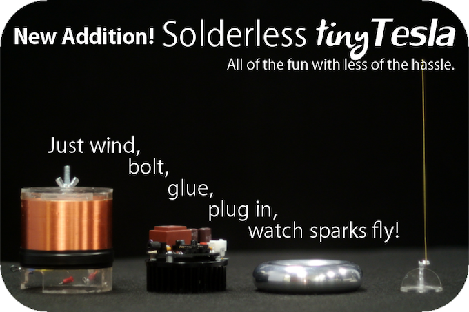 New addition: Pre-soldered tinyTesla kits! Perfect for demo units.