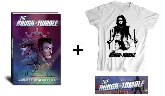 Book (Print & Digital) + T-Shirt (B&W or Color) + Bookmark + Thank You (Not Pictured)