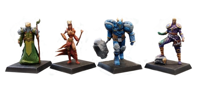 3D Printing Miniatures by drawlab. Painting by CreoWorkshop