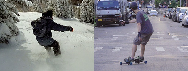 Snowboard on your streets.