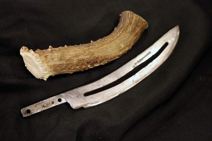 how to make a deer antler into a knife handle