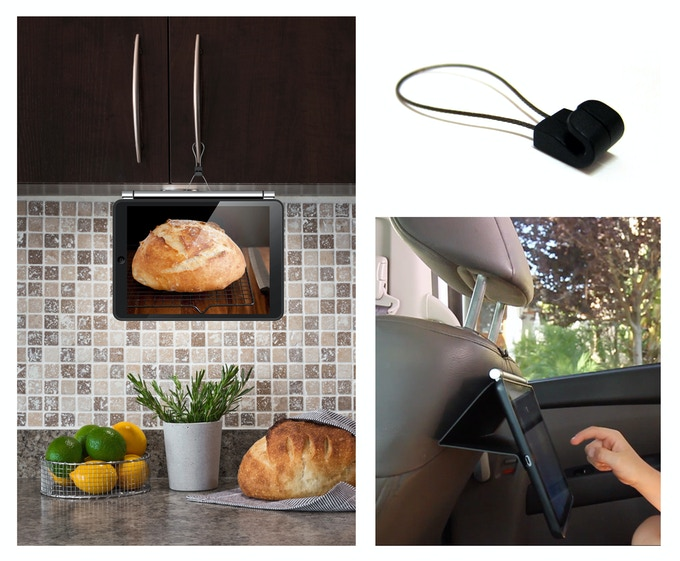 Included magnetic accessory loop for close loop kitchen handle or car headrest