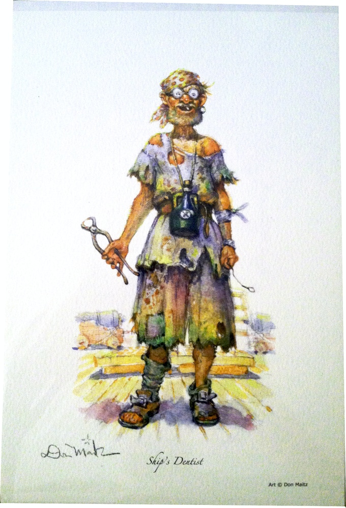 Example of a watercolor print from Don's web store (Ships Dentist)
