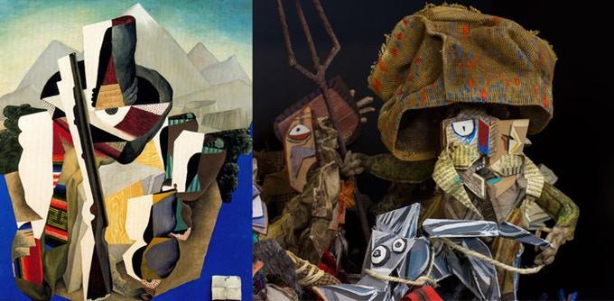 """""""Zapatista Landscape"""" by Diego Rivera (1915) & Rebolledo, the leader of the Revolutionary Forces"""