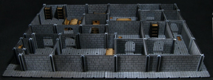A dungeon made with the Small Dungeon Set.