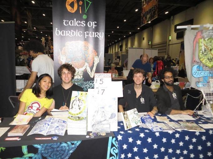 The Backwards Burd Comics Team at MCM London