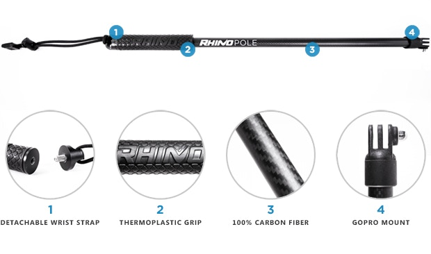Rhino GoPro Accessories: 360 Swivel & Poles for GoPro