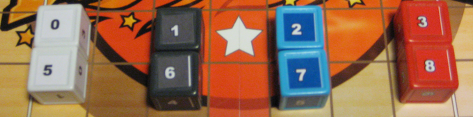 ranges of the various dice (prototype components shown)