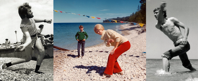 Competitive stone skipping in the Golden Age.