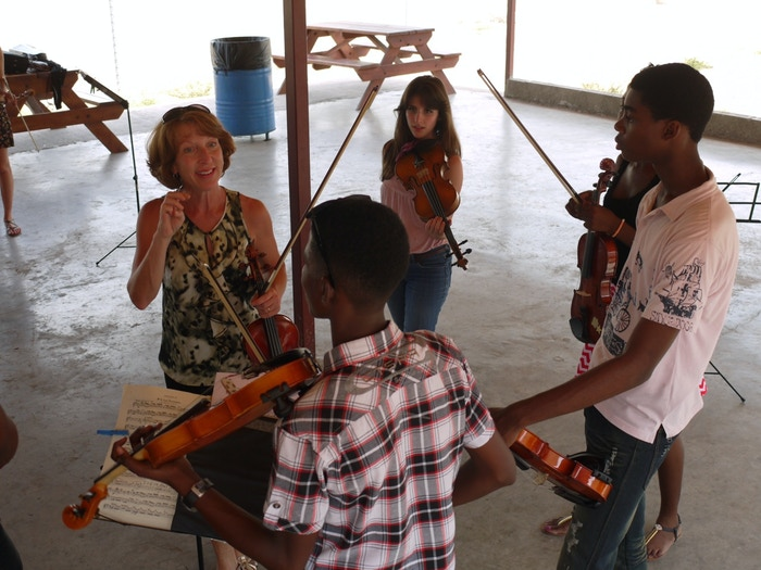 Mary Ann Mumm works with youth in Jamaica