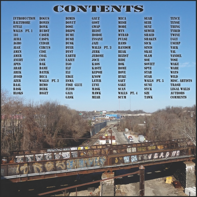 CONTENTS: Full list of artist pages.