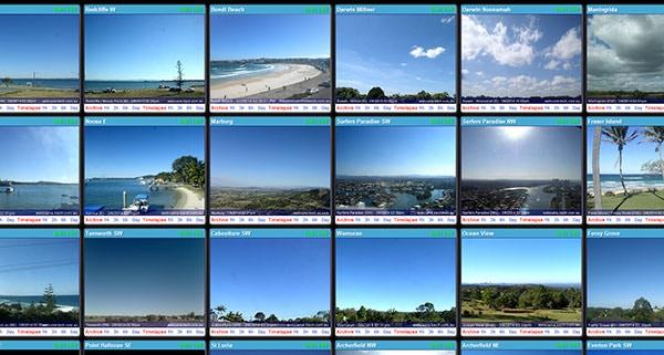 """Webcam Wall"" Viewing Interface"