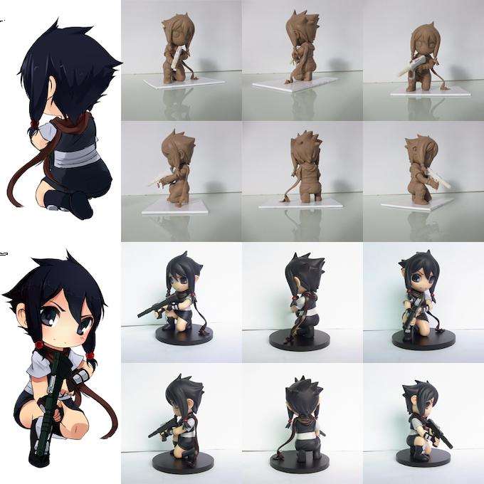 "Asumi 4"" chibi figurine"