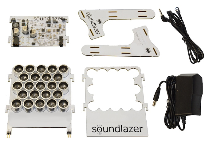 Soundlazer Snap comes with everything you need to experiment with directional audio.