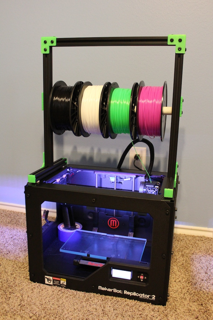 3D Printer Filament Stand For MakerBot Replicator 2 By