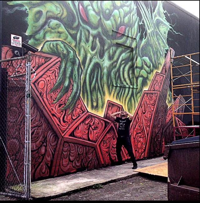 Skinner's mural in Portland, OR