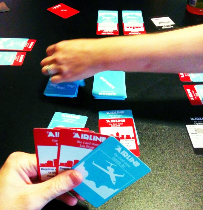 A four player game in progress.