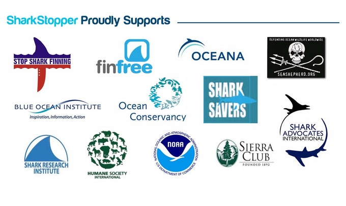 The depiction of these logos does not constitute any endorsement by these organizations for SharkStopper, or partnership or association with these organizations. They are simply used to illustrate SharkStopper's support of these organizations causes.