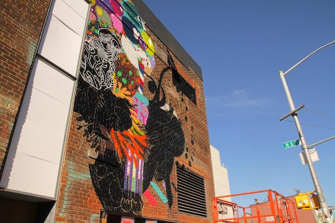 OMW mural (in progress) by Eli Sudbrack (Assume Vivid Astro Focus)