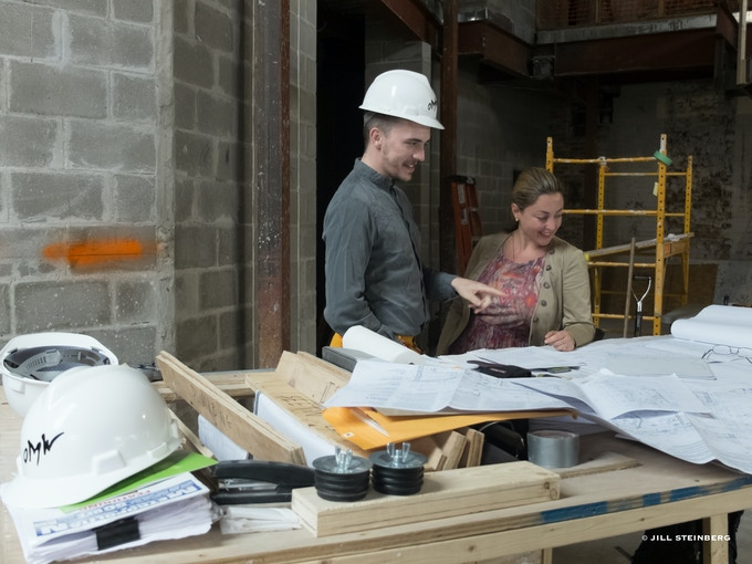 Creative Director/composer Paola Prestini and Bureau V Architect, Peter Zuspan. © Jill Steinberg