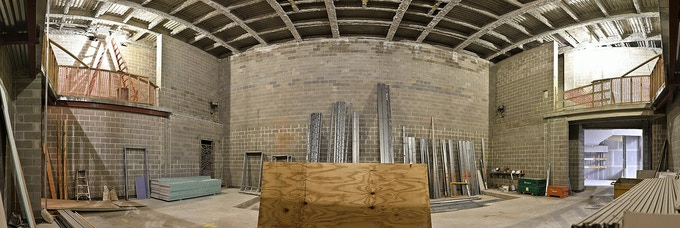 OMW in progress, main hall. © Harvey Mogenson