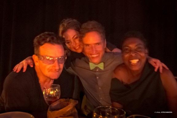 OMW gala Bono, Tim Fain, Helga Davis and Paola Prestini, © Jill Steinberg