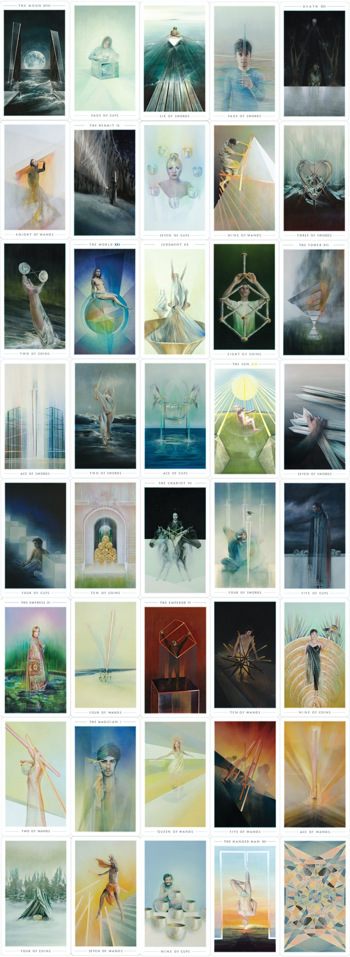 40-Card Preview of The Fountain Tarot (79 Cards Total)