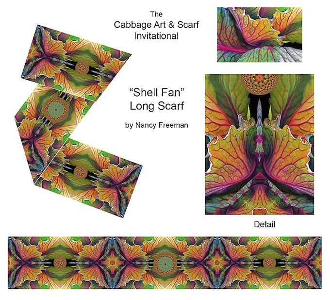 """Long Scarf Design Based on """"Shell Fan"""""""
