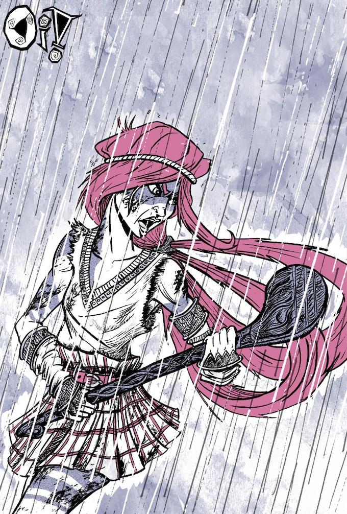 Hurling in the rain
