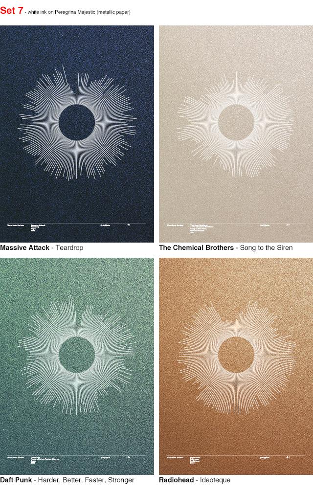 Waveform - dance music silkscreen prints (second wave) by Alex Szabo